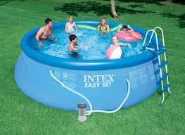 intex above ground swimming pool. Intex 15 X 48 Easy Set Above Ground Swimming Pool W/ 1000 GPH GFCI Pump 28167EH