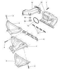 manifolds intake & exhaust for 2006 chrysler pt cruiser pt cruiser exhaust manifold removal at Pt Cruiser Exhaust Diagram
