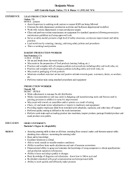 Production Worker Resume Samples Velvet Jobs