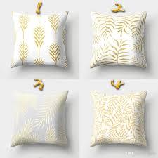 Großhandel 16 Designs 45 45 Cm Gold Muster Relief Kissenbezüge