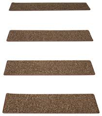 chocolate chip non skid tape free carpet stair treads set of 15 contemporary