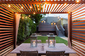 patio cover wood. Example Of A Minimalist Gravel Patio Design In San Francisco Cover Wood