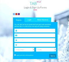 Bootstrap Login And Register Forms In One Page Css Form