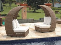 picture of synthetic rattan indoor outdoor sofa for two