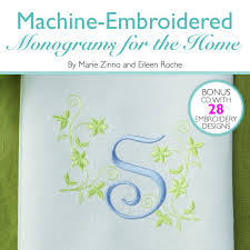 Machine Embroidered Monograms For The Home New Lower Price - Home machine embroidery designs