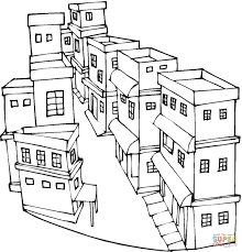 Small Picture A Street of a city coloring page Free Printable Coloring Pages