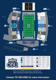 Odu Football Stadium Seating Chart Odu Football Field Seating Chart Billedgalleri Whitman