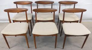 1960s dining table set of six teak 1960 s retro dining chairs sold