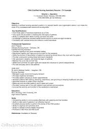 Cna Image Gallery Resume Objective For Nursing Assistant Resume