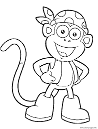 Dora And Boots Colouring Pages With Dazzling Dora Coloring Pages 2