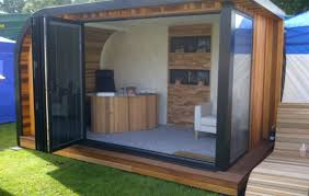 small outdoor office. Office Pods Garden The Wave Contemporary Rooms Room Small Outdoor