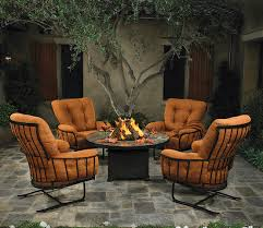 outdoor chairs firepit