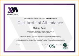 Template Certificate Of Attendance Training Certificate Format Doc