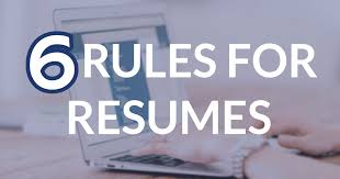 New rules for resumes in 2017