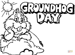 Small Picture Groundhog Day Coloring Pages fablesfromthefriendscom
