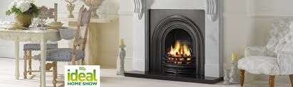 stovax wood burning fireplace on display at the ideal home show