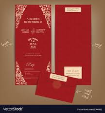Red Wedding Card Design Seal And Send Wedding Invitation Card Red