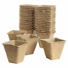 Biodegradable Paper With Flower Seeds Us 12 99 30 Pieces Biodegradable Plant Flower Paper Pulp Seeding Pots Eco Friendly Planting Square Biodegradable Seed Starter Cowpots In Nursery