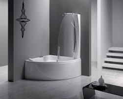 built in bathtub shower combination corner composite sphera 140 comb by studio lenci
