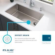 Elkay Ectsr25229tbg3 3 Faucet Holes Crosstown 25 Universal