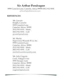 Professional References List Template Resume Reference List Template Sample Of Page References For Job 51