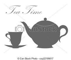 tea cup clip art. Plain Tea Teapot And Tea Cup  Csp22195617 Intended Tea Cup Clip Art