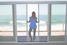 casper double door retractable screens work on sliding glass doors