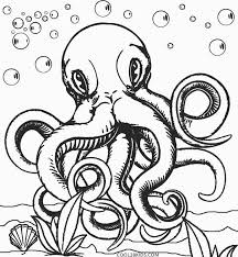 Octopus Coloring Page For Adults Octopus Adult Coloring Page