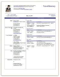 Business Trip Planner Travel Itinerary Office Templates Travel Itinerary Template