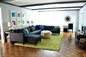 how to place a rug how to place area rug in front of sectional sectional sofa