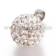 trendy jewelry findings 304 stainless steel round disc ball pendants stas l012 e30p