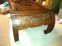 fancy carved coffee table oriental glass top can anyone help me out on thailand
