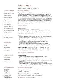 Substitute Teacher Resume Example Template Sample Teaching