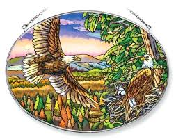 stained glass suncatcher patterns beginners spacious skies bald eagle