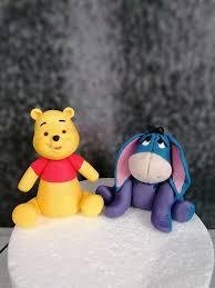 Winnie l'Ourson et Bourriquet en pâte à sucre de modelage | Pâte à ...