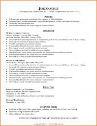 Business Management Resume Objective Free Business Management Resume Profile Examples Professional Sample