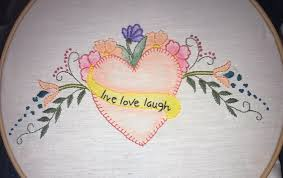 Love Hand Embroidery Designs Live Laugh Love Hand Embroidery Design Pattern Pdf Instant Download Printable Hand Embroidery Pattern