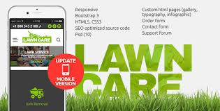 lawn care advertising templates lawn care services html website template by themetony themeforest