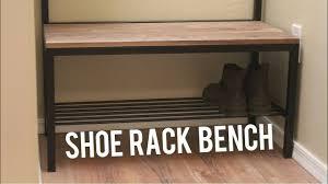 Coat Rack And Bench DIY Shoe Storage Bench Coat Rack Woodworking Welding YouTube 83