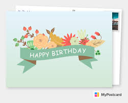 Personalized happy birthday cards make everyone's special day even more special. Create Your Own Happy Birthday Cards Free Printable Templates Printed Mailed For You Photo Cards Photo Postcards Greeting Cards Online Sevice Postcard App