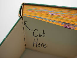 now you have s of the book decorative tapes and papers can make the inside look more polished