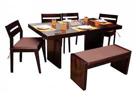 induscraft chair bench dining table set. nectar modern wooden dining table set with 4 chair and bench induscraft d