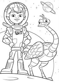 Small Picture Disney Junior Coloring Pages Miles From Tomorrowland Free Coloring