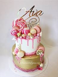 Cake Designs For 21st Birthday For A Girl Pink Drip Girls 1st