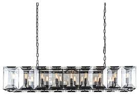 emerald 18 light 60 glass chandelier gray iron with led bulbs