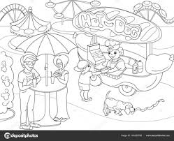 Park Coloring Pages With Children Park Coloring Page Photography