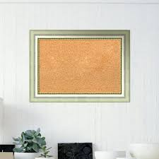 framed cork board bulletin diy large
