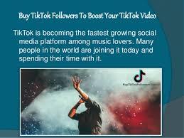 Buy TikTok Followers To Boost Your TikTok Video