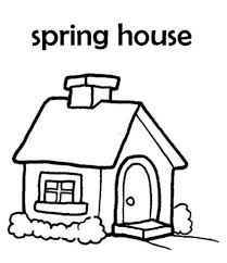 Spring House Coloring Pages For Kids House Coloring Pages Spring