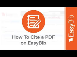 how to cite a pdf on easybib